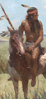 """Young Scout"" (detail) by Z.S. Liang"