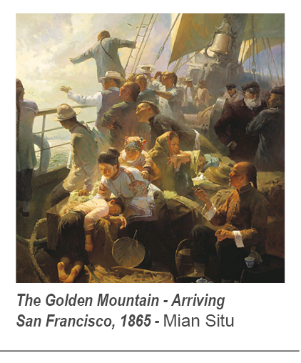 """The Golden Mountain - Arriving San Francisco, 1865"" by Mian Situ"