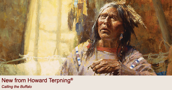 """Calling the Buffalo"" by Howard Terpning"