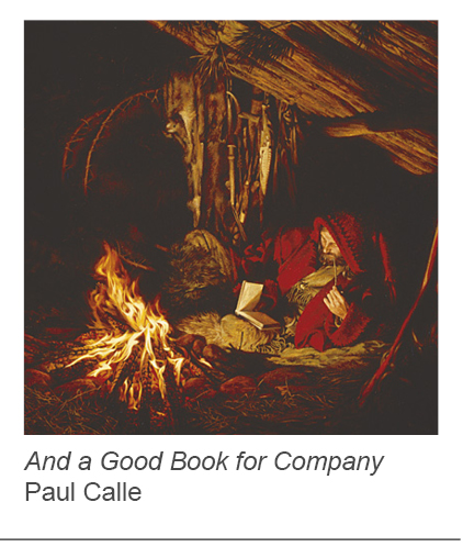 """And a Good Book for Company"" by Paul Calle"