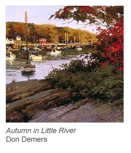 """Autumn in Little River"" by Don Demers"