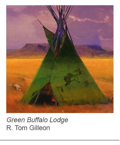 """Green Buffalo Lodge"" by R. Tom Gilleon"