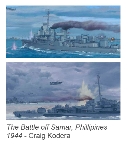 """The Battle off Samar, Phillipines 1944"" by Craig Kodera"