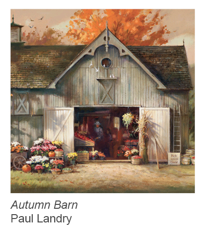 """Autumn Barn"" by Paul Landry"
