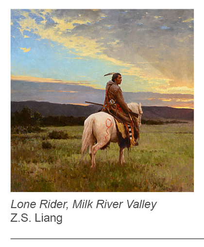 """Lone Rider, Milk River Valley"" by Z.S. Liang"