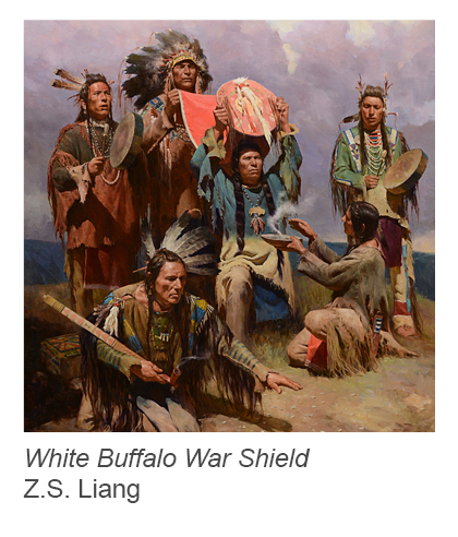 """White Buffalo War Shield"" by Z.S. Liang"
