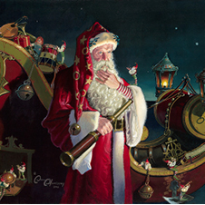 """""""Santa, Packed and Ready"""" by Dean Morrissey"""