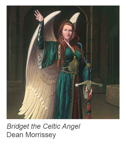 """Bridget the Celtic Angel"" by Dean Morrissey"