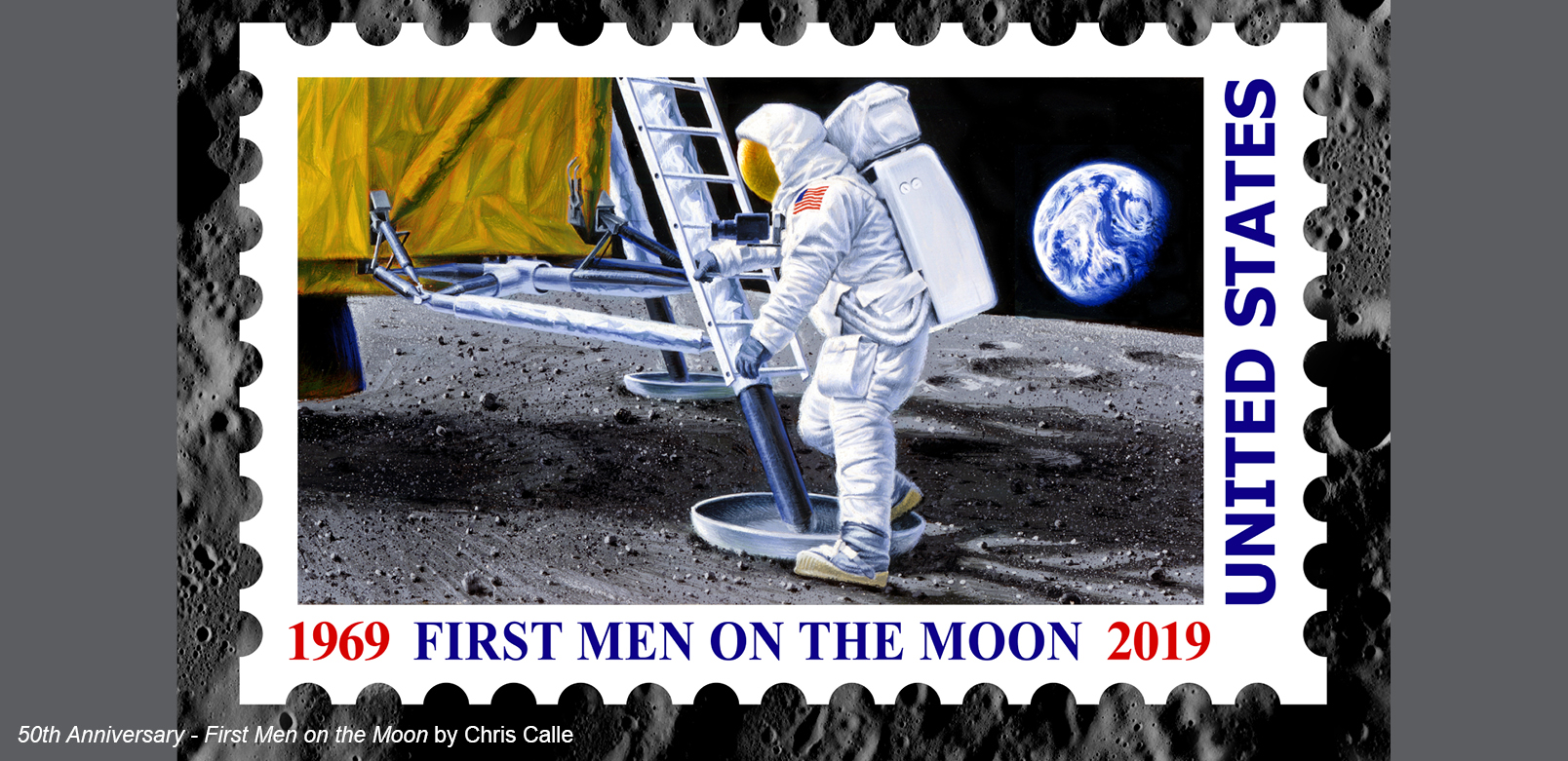 Chris Calle - FIRST MEN ON THE MOON - LIMITED EDITION CANVAS