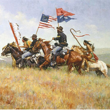 """Flags on the Frontier"" by Howard Terpning"