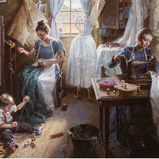 """The Dressmaker's Shop, 1886"" by Morgan Weisting"