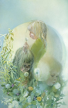 Carolyn Blish - MAKE A WISH -  LIMITED EDITION PRINT Published by the Greenwich Workshop